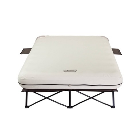d56426a3f9807 Coleman Queen Air Mattress And Cot Combo With Battery Operated Pump - Cream    Target