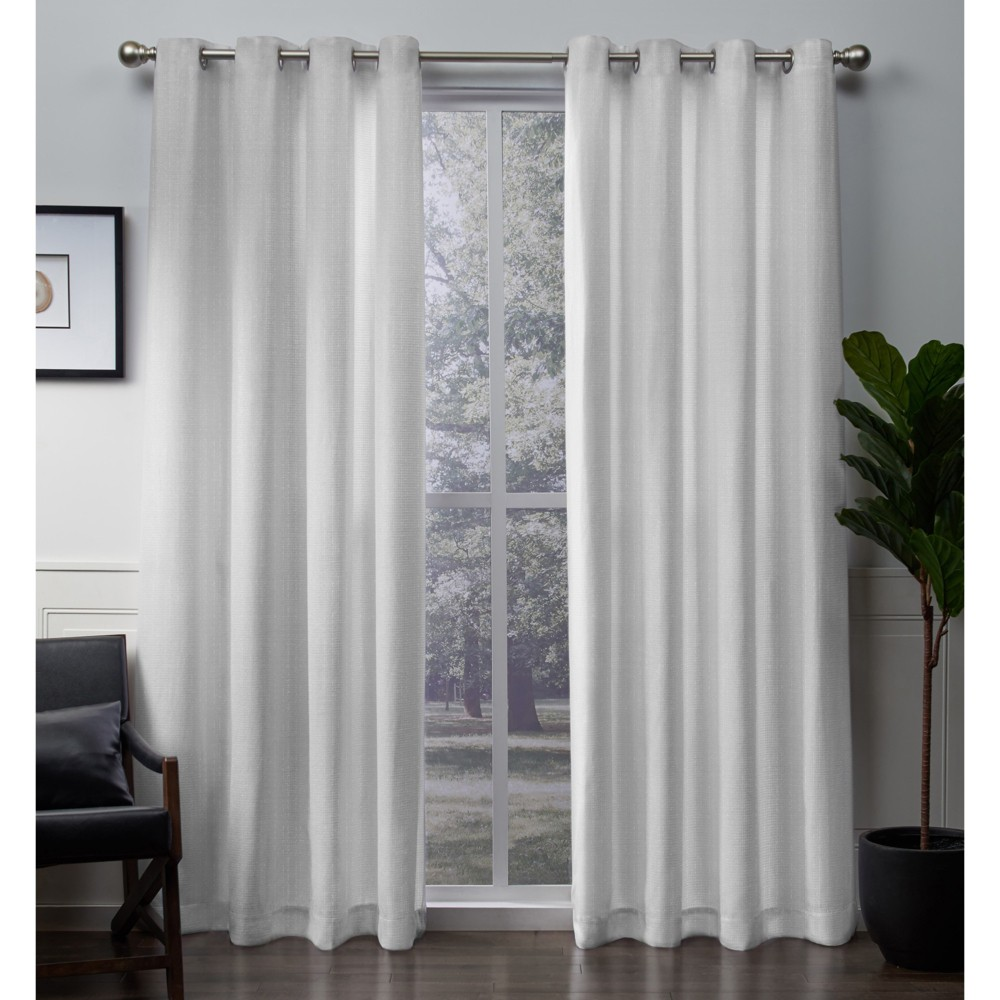 Image of Winfield curtain panels White 54x108 - Exclusive Home
