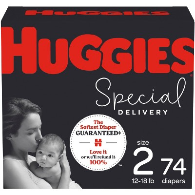 Huggies Special Delivery Hypoallergenic Baby Disposable Diapers Super Pack - Size 2 - 74ct