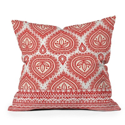 """16""""x16"""" Aimee St. Hill Square Throw Pillow Red - Deny Designs"""
