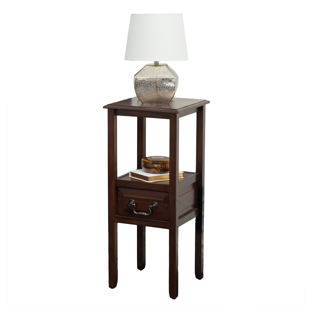 Rivera Acacia Wood Accent Table Brown Mahogany - Christopher Knight Home