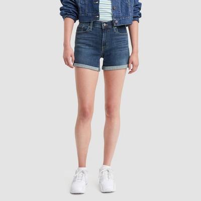Levi's® Women's Mid-Rise Jean Shorts - Deep Ocean