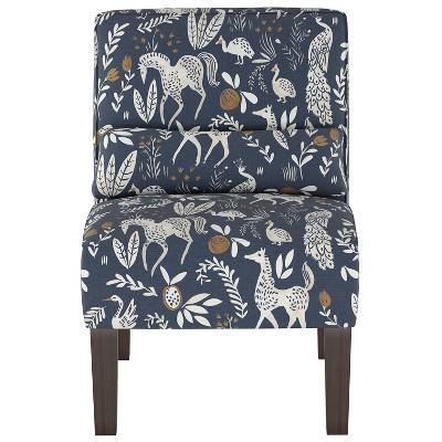 Burke Slipper Chair Blue Animal Print - Threshold™