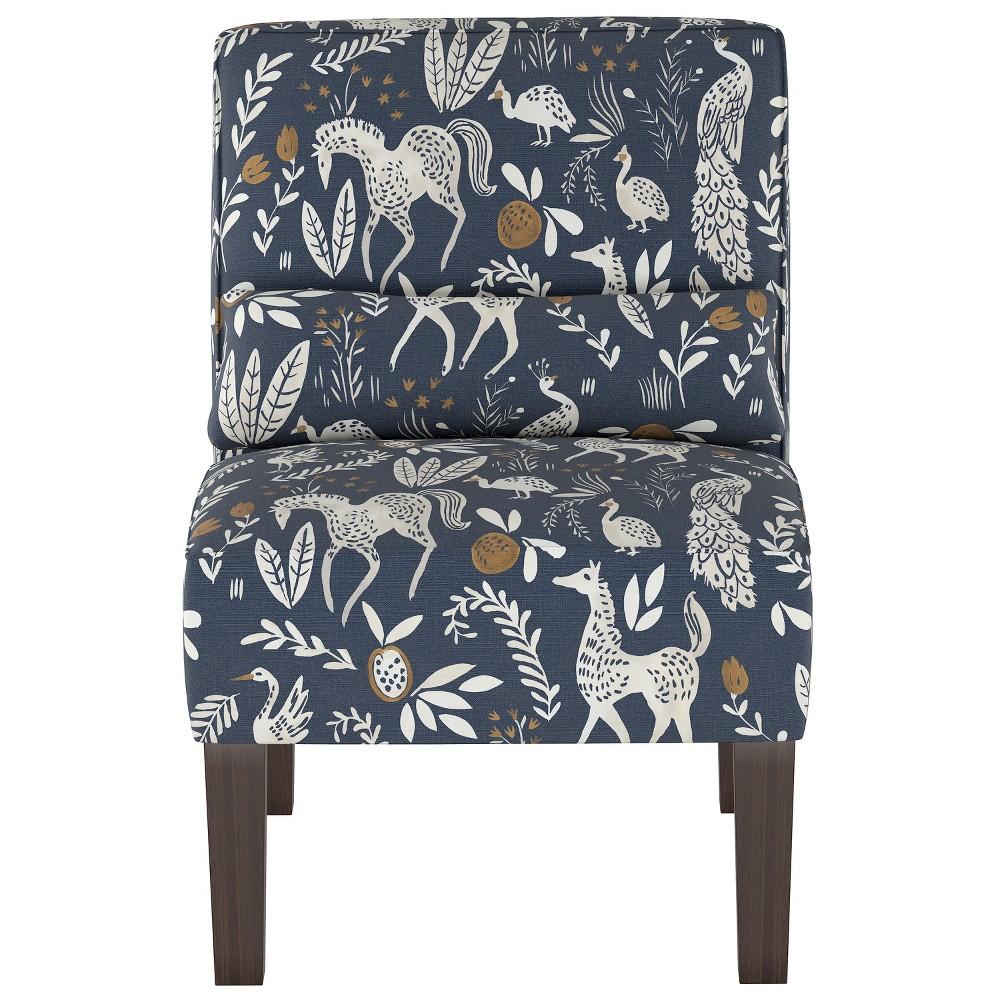 Burke Slipper Chair Blue Animal Print Threshold