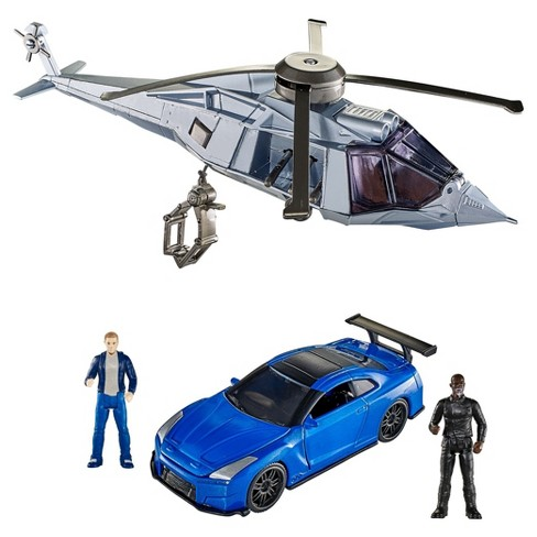 Fast and Furious Extreme Stunt Stars Brian and '12 Nissan GT-R and Mose Jakande Set - image 1 of 11