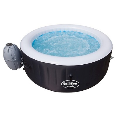 SalulSpa™ Miami Airjet™ Hot Tub - Black