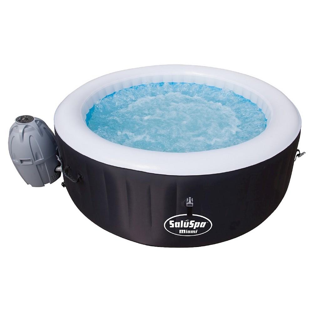 SalulSpa Miami Airjet Hot Tub - Black