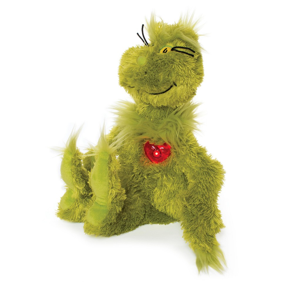 Manhattan Toy Dr. Seuss Grinch with Light Up Heart Plush