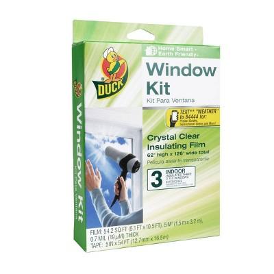 """Duck 62""""x126"""" 3pk Shrink Window Film Insulation Indoor Kit"""
