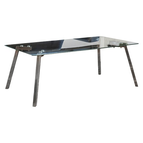 Sabatay Tempered Clear Coffee Table Clear - Christopher Knight Home - image 1 of 4