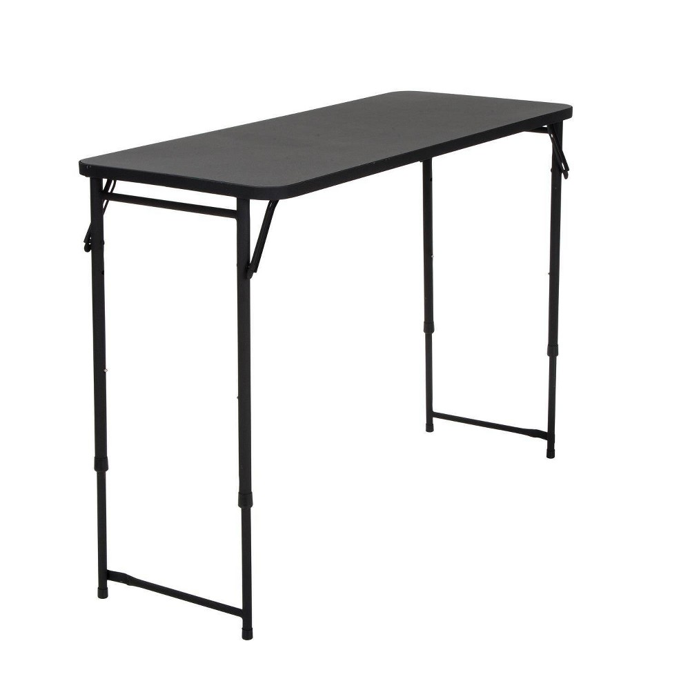 "Image of ""20"""" X 48"""" Adjustable Height PVC Top Table Black - Room & Joy"""