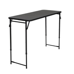 "20"" X 48"" Adjustable Height PVC Top Table Black - Room & Joy"