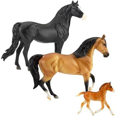 Breyer Animal Creations Breyer Freedom Series 1:12 Scale Model Horse Set   Spanish Mustang Family
