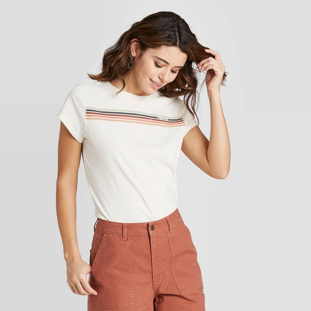 Women's 70s Shirts, Blouses, Hippie Tops Women39s Je Taime Standard Fit Short Sleeve Crewneck T-Shirt - Universal Thread8482 $8.00 AT vintagedancer.com