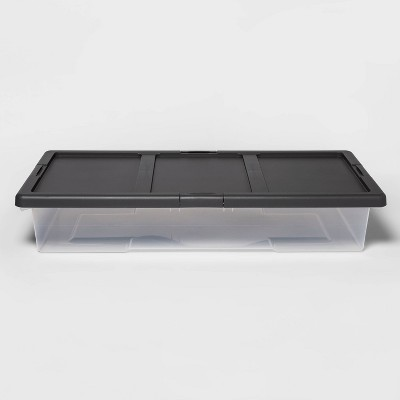 Underbed Clear Latching Storage Bin - Made By Design™