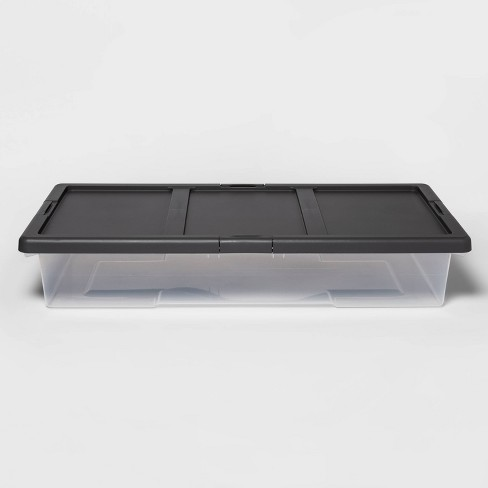 Underbed Clear Latching Storage Bin - Made By Design™ - image 1 of 4