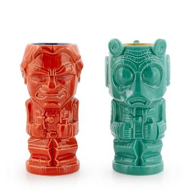 Beeline Creative Geeki Tikis Star Wars Han Solo & Greedo Mugs   Star Wars Tiki Style Ceramic Cups