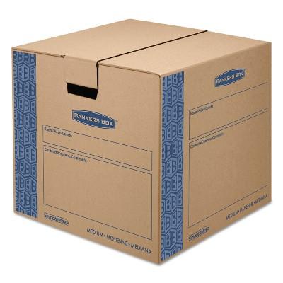 Bankers Box SmoothMove Prime Medium Moving Boxes 18l x 18w x 16h Kraft/Blue 8/Carton 0062801