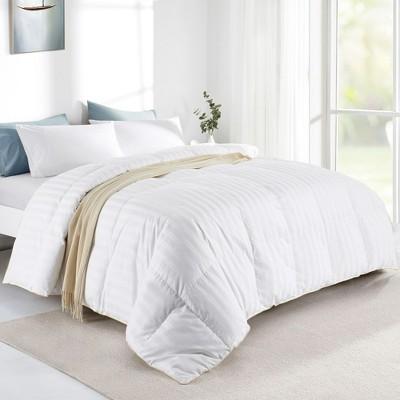 Puredown All Season 500 Thread Count 600FillPower 75% Goose Down Baffle Box Comforter