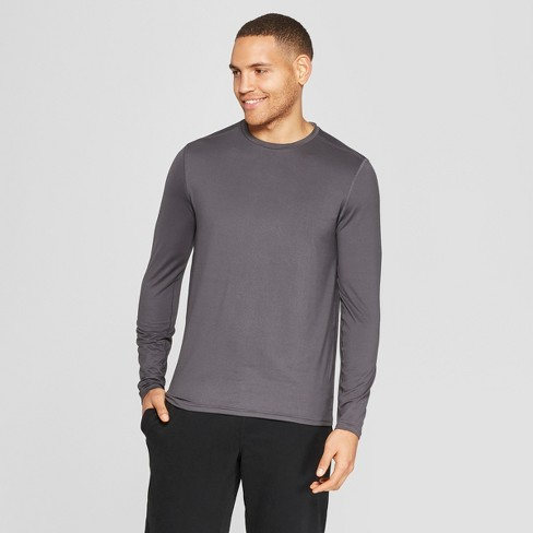 8d2b0726a34f Men s Long Sleeve Tech T-Shirt - C9 Champion® Charcoal Grey S   Target