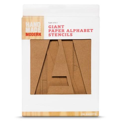 Hand Made Modern   Giant Paper Alphabet Stencils   26 Ct : Target