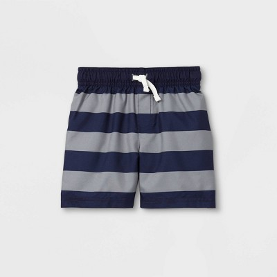 Toddler Boys' Striped Swim Trunks - Cat & Jack™