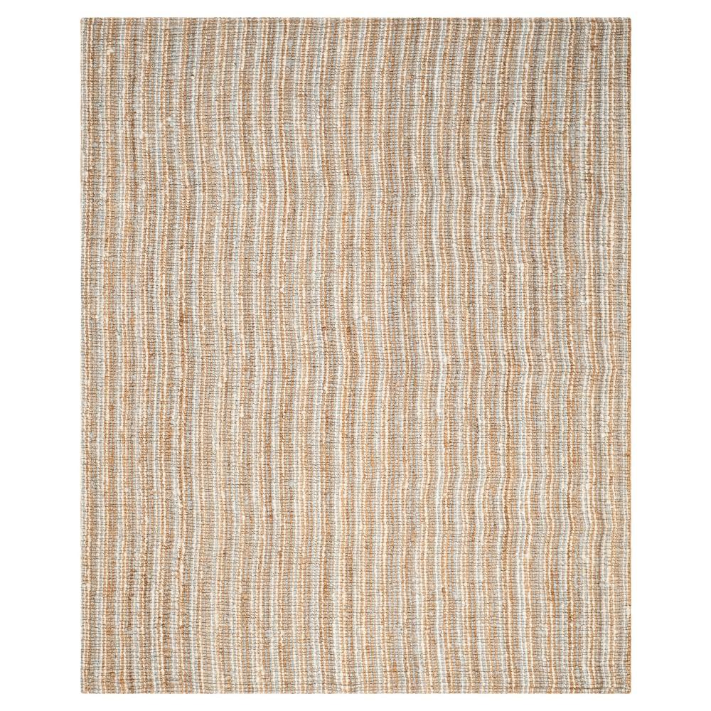 Serena Natural Fiber Area Rug - Gray / Natural (Gray/Natural) (9' X 12') - Safavieh