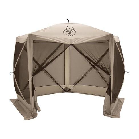 Gazelle 4-Person 5-Sided Portable Gazebo Screen Tent, Tan - image 1 of 6