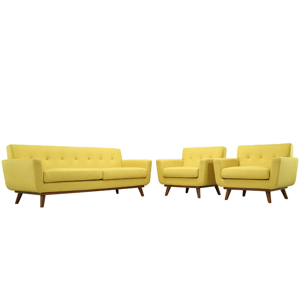 Engage Armchairs and Sofa Set of 3 Sunny - Modway