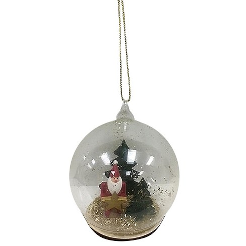 Santa Snow Globe Christmas Ornament Wondershop Target