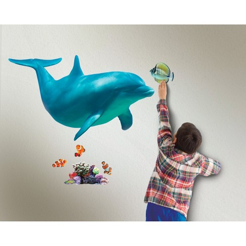 Wild Walls Dolphin Voyage Animated Wall Art : Target