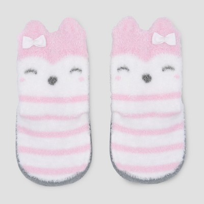Baby Girls' Terry Puppet Slipper Socks - Just One You® made by carter's Pink Newborn