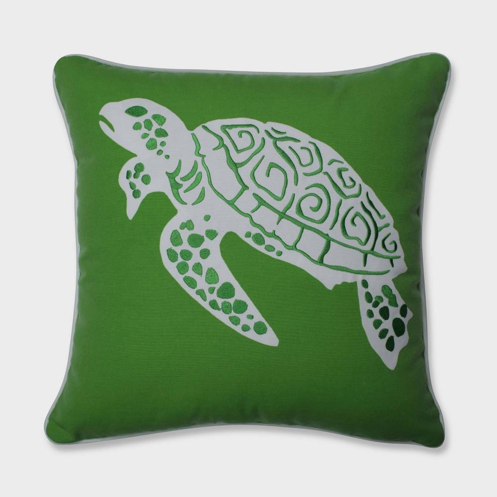 Thomas Turtle Throw Pillow Green - Pillow Perfect
