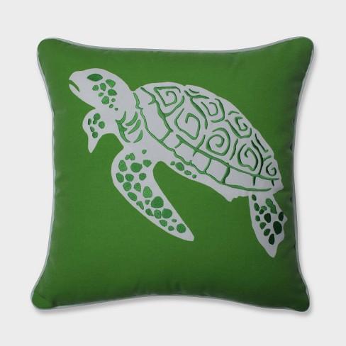 Thomas Turtle Throw Pillow Green - Pillow Perfect - image 1 of 2