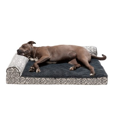 FurHaven Southwest Kilim Deluxe Chaise Lounge Orthopedic Sofa-Style Dog Bed