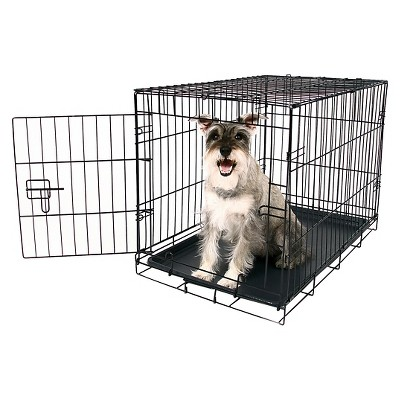 Carlson Compact and Secure Single Metal Door Dog Cage - M - Black