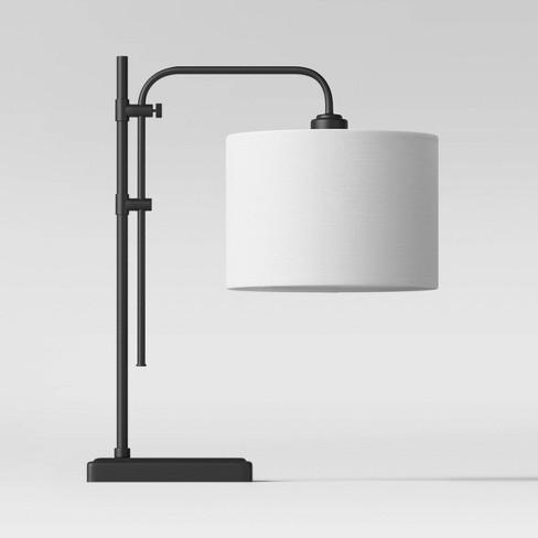 Knox Adjustable Shaded LED Table Lamp Black (Includes Energy Efficient Light Bulb) - Threshold™ - image 1 of 2