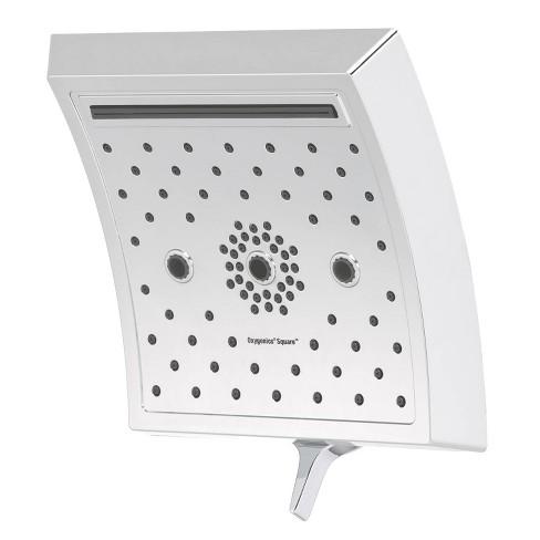 5 Setting Square Rain Shower Head Chrome Oxygenics Target