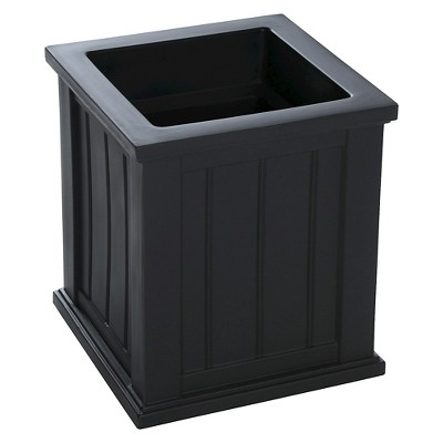16  X 16  Cape Cod Patio Square Planter - Black - Black - Mayne
