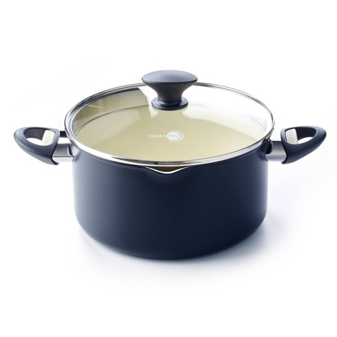 GreenPan Rio 6qt Covered Stock Pot with Strainer - Black - image 1 of 4