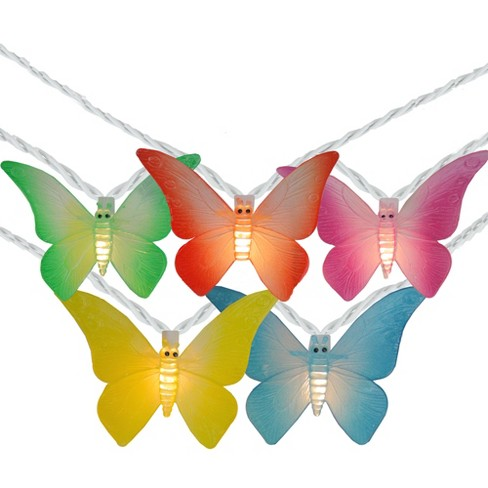Northlight 10 Summer Butterfly Outdoor Patio String Lights - 7.25ft. White Wire - image 1 of 2
