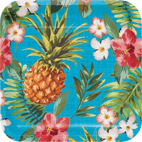 "Aloha Square 9"" Paper Plates - 8ct - image 1 of 2"