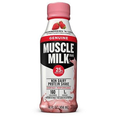 Muscle Milk Genuine Strawberry - 14 fl oz Bottle