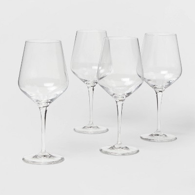 22oz 4pk Glass Atherton Red Wine Glasses - Threshold™