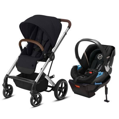 Cybex Balios S Lux Travel System with Aton 2 Infant Car Seat - Deep Black