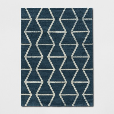 7'X10' Glacier Hourglass Woven Area Rug Navy - Project 62™