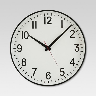 20  Wall Clock Black/White - Threshold™