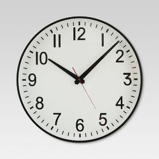 "20"" Wall Clock Black/White - Threshold™"