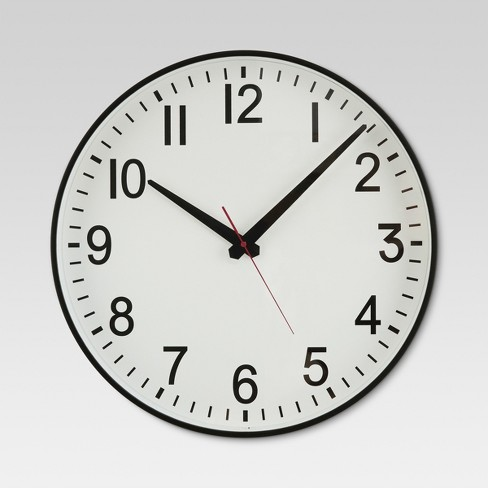 "20"" Wall Clock Black/White - Threshold™ - image 1 of 2"