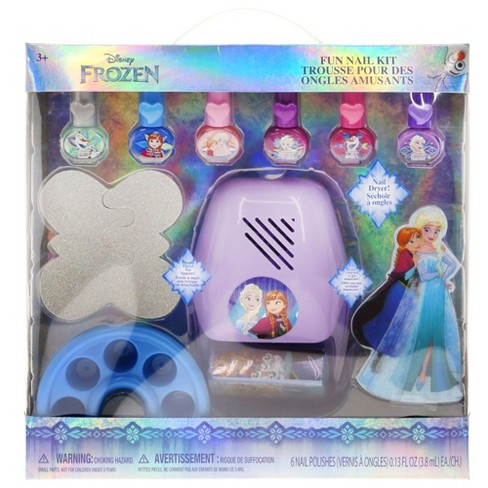 Disney Frozen Nail Polish With Dryer - 6ct